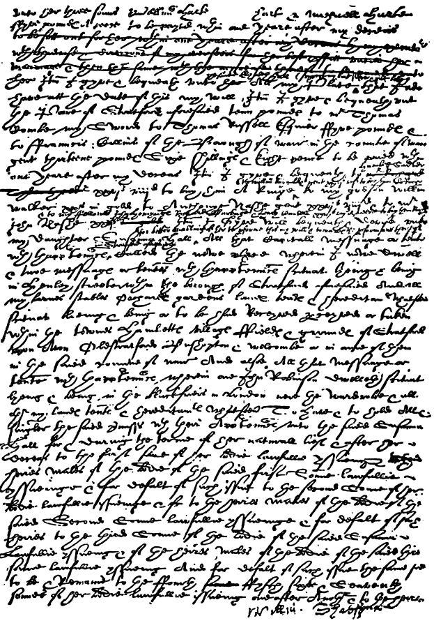 Факсимильное воспроизведение завещания Шекспира. Страница 1